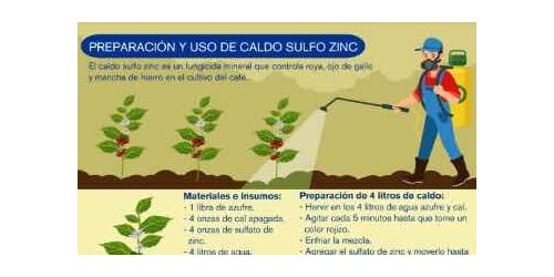 Preparación y uso de caldo sulfo zinc